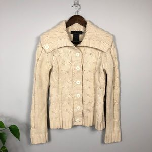 Vintage Wool Fisherman's Cable Knit Sweater Medium